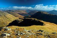 A' Chrois and Ben Lomond from Beinn Ime, the Arrochar Alps, Loch Lomond and the Trossachs National Park, Argyll & Bute