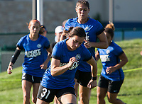 Kansas City, MO - Sunday July 02, 2017:  Christina Gibbons begins her sprints before a regular season National Women's Soccer League (NWSL) match between FC Kansas City and the Houston Dash at Children's Mercy Victory Field.