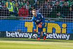 13.04.2019, Weser Stadion, Bremen, GER, 1.FBL, Werder Bremen vs SC Freiburg, <br /> <br /> DFL REGULATIONS PROHIBIT ANY USE OF PHOTOGRAPHS AS IMAGE SEQUENCES AND/OR QUASI-VIDEO.<br /> <br />  im Bild<br /> <br /> Alexander Schwolow (SC Freiburg #01)<br /> <br /> Foto &copy; nordphoto / Kokenge