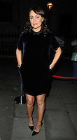 "Keeley Hawes  <br /> The ""Barking In Essex"" press night afterparty, The Crypt, St Martin-in-the-Fields Church, Charing Cross Rd., London, England.<br /> September 16th, 2013<br /> full length black dress blue velvet<br /> CAP/CAN<br /> ©Can Nguyen/Capital Pictures"