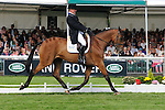 James Adams during day 2 of the dressage phase at the 2012 Land Rover Burghley Horse Trials in Stamford, Lincolnshire,UK.