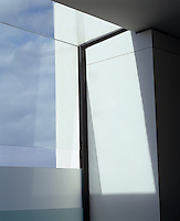 Sunlight filters through a recessed window