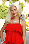 "Holly Madison arrives at the Much Love Animal Rescue Presents The Second Annual ""Bow Wow WOW!"" at The Playboy Mansion on July 19, 2008 in Beverly Hills, California."