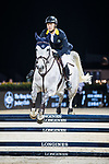 Nathaniel Chan of Hong Kong riding Lay Your Love On Z competes in the HKJC Junior Trophy during the Longines Masters of Hong Kong at AsiaWorld-Expo on 11 February 2018, in Hong Kong, Hong Kong. Photo by Ian Walton / Power Sport Images
