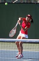 Carol Zhao,, with the Stanford Women's Tennis team. Photo taken on Monday, September 23, 2013