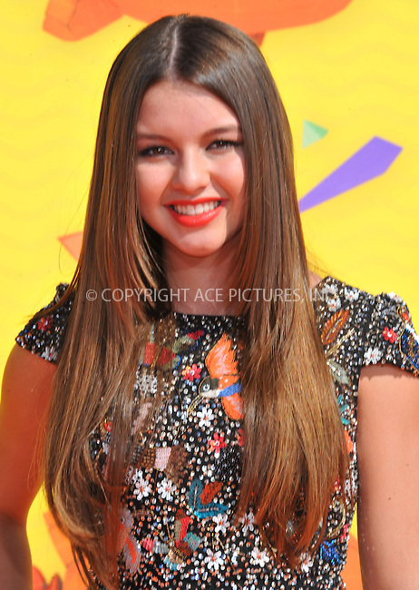WWW.ACEPIXS.COM<br /> <br /> March 28 2015, LA<br /> <br /> Fatima Ptacek arriving at Nickelodeon's 28th Annual Kids' Choice Awards at The Forum on March 28, 2015 in Inglewood, California. <br /> <br /> <br /> By Line: Peter West/ACE Pictures<br /> <br /> <br /> ACE Pictures, Inc.<br /> tel: 646 769 0430<br /> Email: info@acepixs.com<br /> www.acepixs.com