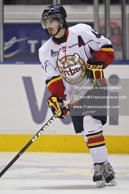 QMJHL (LHJMQ) hockey profile photo on Acadie-Bathurst Titan Zach O'Brien November 21, 2012 at the Colisee Pepsi in Quebec city.