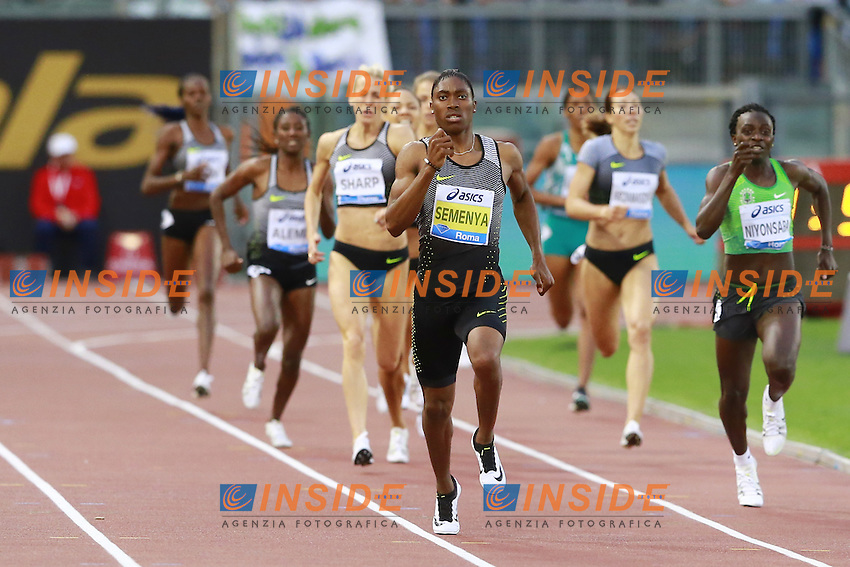 Caster Semenya RSA Winner 800m Women  <br /> Roma 02-06-2016 Stadio Olimpico.<br /> IAAF Diamond League 2016<br /> Atletica Legera <br /> Golden Gala Meeting - Track and Field Athletics Meeting<br /> Foto Cesare Purini / Insidefoto