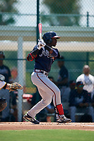 GCL Braves Michael Harris (26) bats during a Gulf Coast League game against the GCL Pirates on July 30, 2019 at Pirate City in Bradenton, Florida.  GCL Braves defeated the GCL Pirates 10-4.  (Mike Janes/Four Seam Images)