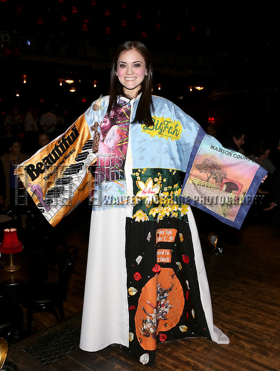 Andrea Goss during the Broadway Opening Night Gypsy Robe Ceremony honoring Andrea Goss for 'Cabaret' at Studio 54 on April 24, 2014 in New York City.