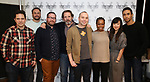 "Oliver Butler, Greg Keller, Michael Cyril Creighton, Thomas Jay Ryan, Jordan Harrison, Quincy Tyler Bernstine, Jennifer Kim, and Kyle Beltran attends the Meet & Greet for the cast of ""The Amateurs"" at the Shelter Studios on January 9, 2018 in New York City."