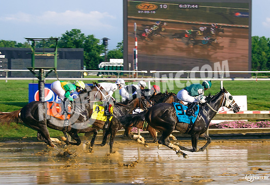 Dark Nile winning The Delaware Oaks (gr 3) at Delaware Park on 7/9/16