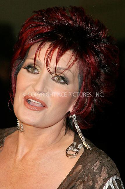 WWW.ACEPIXS.COM . . . . .  ... . . . . US SALES ONLY . . . . .....LONDON, FEBRUARY 9, 2005....Sharon Osbourne at the 25th Brit Awards, Earls Court.....Please byline: FAMOUS - ACE PICTURES - F. DUVAL... . . . .  ....Ace Pictures, Inc:  ..Philip Vaughan (646) 769-0430..e-mail: info@acepixs.com..web: http://www.acepixs.com