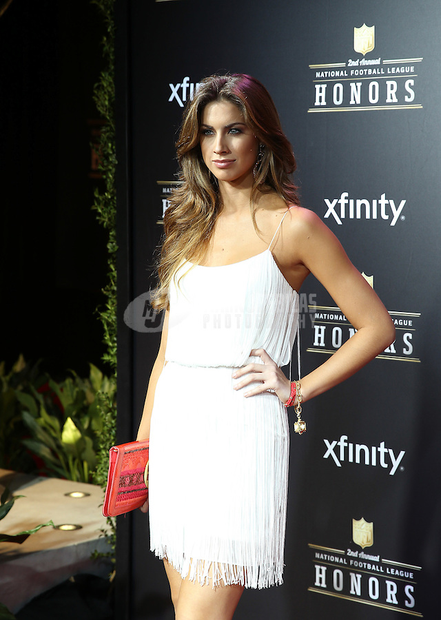 Feb. 2, 2013; New Orleans, LA, USA: Katherine Webb walks the red carpet prior to the Super Bowl XLVII NFL Honors award show at Mahalia Jackson Theater. Mandatory Credit: Mark J. Rebilas-USA TODAY Sports