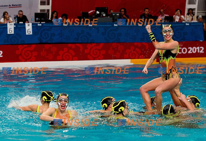 Ukraina UKR.Highligths event Day01 - Nov. 30.7th FINA Synchronized Swimming  World Trophy.Mexico City MEX - Nov. 30th, Dec. 2nd, 2012.Photo G.Scala/Deepbluemedia/Inside .Nuoto Sincronizzato