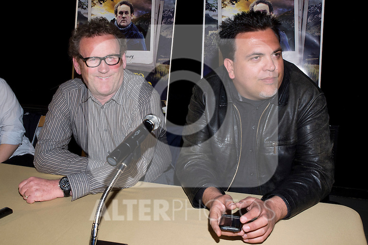 "Cinema Palafox. Madrid. Spain. Presentation in Madrid of the movie ""Perfect Stranger"" with the director Toni Bestard (r) and the actor Colm Meaney. March, 16, 2012..(Alterphotos/Marta Gonzalez)"