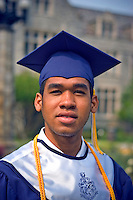 African American graduate photographed at Oglethorpe University, on 13 June, 2004.