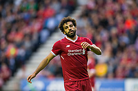 Mohamed Salah of Liverpool during the pre season friendly match between Wigan Athletic and Liverpool at the DW Stadium, Wigan, England on 14 July 2017. Photo by Andy Rowland.