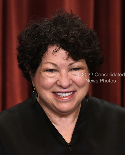Associate Justice Sonia Sotomayor poses for a group photograph at the Supreme Court building on June 1 2017 in Washington, DC.  <br /> Credit: Olivier Douliery / Pool via CNP