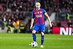 FC Barcelona's Andres Iniesta  during Champions League match between Futbol Club Barcelona and VfL Borussia Mönchengladbach  at Camp Nou Stadium in Barcelona , Spain. December 06, 2016. (ALTERPHOTOS/Rodrigo Jimenez)