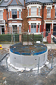 Thames Water improvement works to the London sewerage system, West Hampstead.