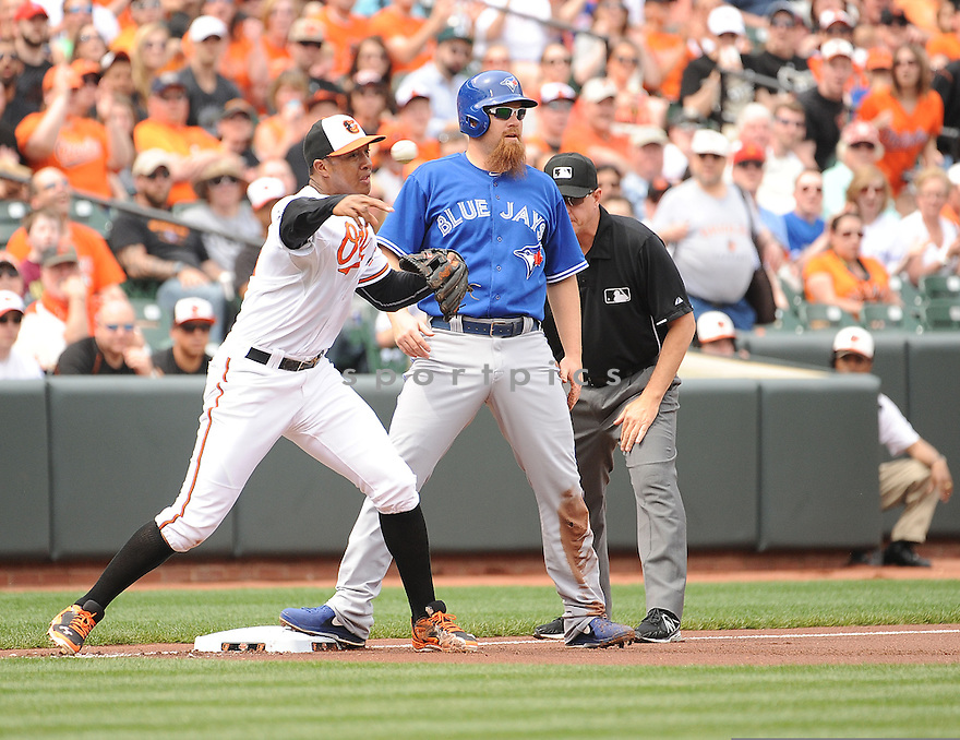Baltimore Orioles Jonathan Schoop (6) during a game against the Toronto Blue Jays on April 13, 2014 at Oriole Park in Baltimore, MD. The Blue Jays beat the Orioles 11-3.