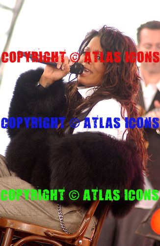 Janet Jackson Performs At Good Morning America , In New York City, .On March 31, 2004..Photo Credit: Eddie Malluk/Atlas Icons.com