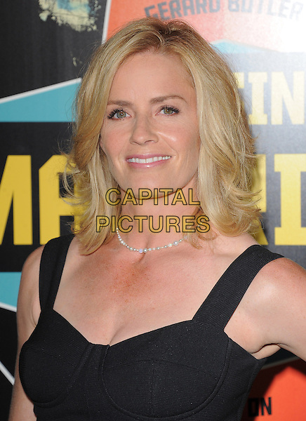 Elisabeth Shue.Special Screening of 'Chasing Mavericks' held at The Pacific Grove Stadium 14 in Los Angeles, California, USA..October 18th, 2012.headshot portrait black corset pearl necklace .CAP/RKE/DVS.©DVS/RockinExposures/Capital Pictures.