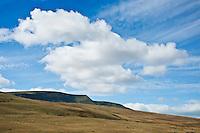 Fan Brycheiniog rises above autumn grassland, Black Mountain, Brecon Beacons national park, Wales
