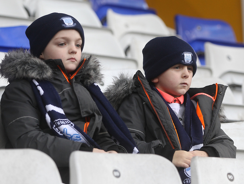 Preston North End's Fans anticipate the kick-off<br /> <br /> Photographer Mick Walker/CameraSport<br /> <br /> The EFL Sky Bet Championship - Birmingham City v Preston North End - Saturday 1st December 2018 - St Andrew's - Birmingham<br /> <br /> World Copyright © 2018 CameraSport. All rights reserved. 43 Linden Ave. Countesthorpe. Leicester. England. LE8 5PG - Tel: +44 (0) 116 277 4147 - admin@camerasport.com - www.camerasport.com