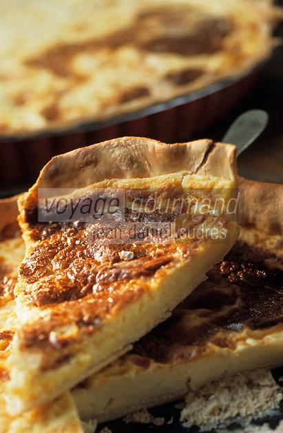 """Europe/France/Nord-Pas-de-Calais/59/Nord/Lille: Goyère au carré du vinage, tarte au fromage - Recette de l'estaminet """"T. Rijsel"""" 25 rue de Gand"""