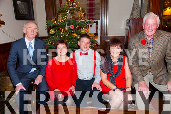 60th Anniversary of the Tralee Mountaineering Club Christmas Party at the Grand Hotel on Saturday Pictured   Pat Daly, Maja Noszczyk, Brendan Smith, Helen Fitzgibbon, Liam Walsh