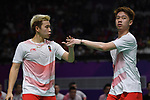 Gideon Fernaldi & Sukamuljo Sanjaya (INA), <br /> AUGUST 22, 2018 - Badminton : Men's Team Final match between China - Indonesia at Gelora Bung Karno Istora during the 2018 Jakarta Palembang Asian Games in Jakarta, Indonesia. <br /> (Photo by MATSUO.K/AFLO SPORT)