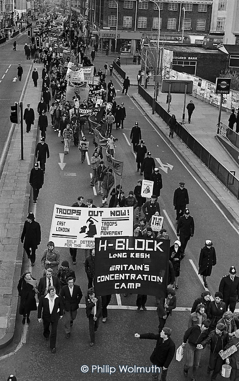 March from Speakers' Corner to Kilburn in support of H Block hunger strikers