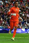 Real Madrid´s goalkeeper Keylor Navas during 2014-15 La Liga match between Real Madrid and Eibar at Santiago Bernabeu stadium in Madrid, Spain. April 11, 2015. (ALTERPHOTOS/Luis Fernandez)