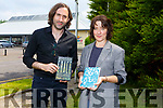 Collette Bryce who won the Pick up Prize for Poetry and Paul Lynch won the Kerry Group Irish Novel of the year with his book called Grace at a reading in the Listowel Library on Thursday.