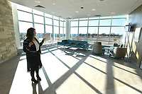 NWA Democrat-Gazette/J.T. WAMPLER Hilary Demillo, spokesperson for Arkansas ChildrenÕs Hospital Northwest, shows off the hospital's natural light during a tour Saturday Jan. 6, 2018 in Springdale. The hospital is set to open Tuesday for outpatient services.