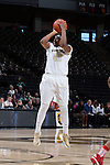 Tyra Whitehead (42) of the Wake Forest Demon Deacons attempts a jump shot during first half action against the North Carolina State Wolfpack at the LJVM Coliseum on January 8, 2017 in Winston-Salem, North Carolina.  The Wolfpack defeated the Demon Deacons 65-50.  (Brian Westerholt/Sports On Film)