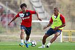 Getafe CF's Gaku Shibasaki (l) and Cata Diaz during training session. August 1,2017.(ALTERPHOTOS/Acero)