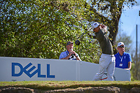 Satoshi Kodaira (JPN) watches his tee shot on 12 during round 1 of the World Golf Championships, Dell Match Play, Austin Country Club, Austin, Texas. 3/21/2018.<br /> Picture: Golffile | Ken Murray<br /> <br /> <br /> All photo usage must carry mandatory copyright credit (&copy; Golffile | Ken Murray)