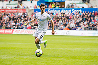 Sunday April 02 2017 <br /> Pictured: Jack Cork of Swansea City in action <br /> Re: Premier League match between Swansea City and Middlesbrough at The Liberty Stadium, Swansea, Wales, UK. SUnday 02 April 2017
