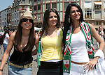 17 June 2006: Iran fans in Frankfurt before the game. Portugal played Iran at Commerzbank Arena in Frankfurt, Germany in match 24, a Group D first round game, of the 2006 FIFA World Cup.