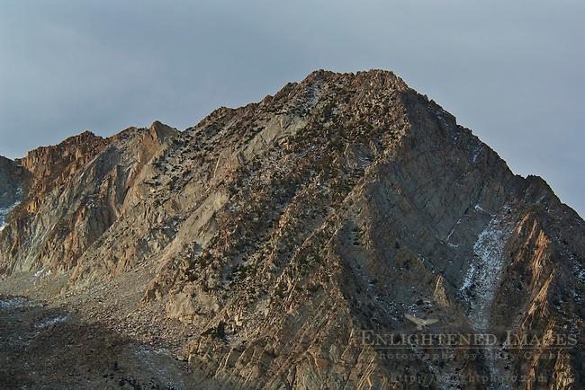 Mountain peak and ridge near Tioga Pass, Mono County, California