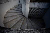 Brasilia_DF, Brasil...Detalhe da escada da  Catedral Metropolitana Nossa Senhora Aparecida em Brasilia...The stairs of the Metropolitan Cathedral Nossa Senhora Aparecida in  Brasilia...Foto: JOAO MARCOS ROSA / NITRO