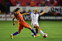 Atlanta, GA - Sunday Sept. 18, 2016: Allie Long during a international friendly match between United States (USA) and Netherlands (NED) at Georgia Dome.