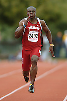 1 April 2006: Wopamo Osaisai during Stanford's Track & Field Invitational at Cobb Track & Angell Field in Stanford, CA.