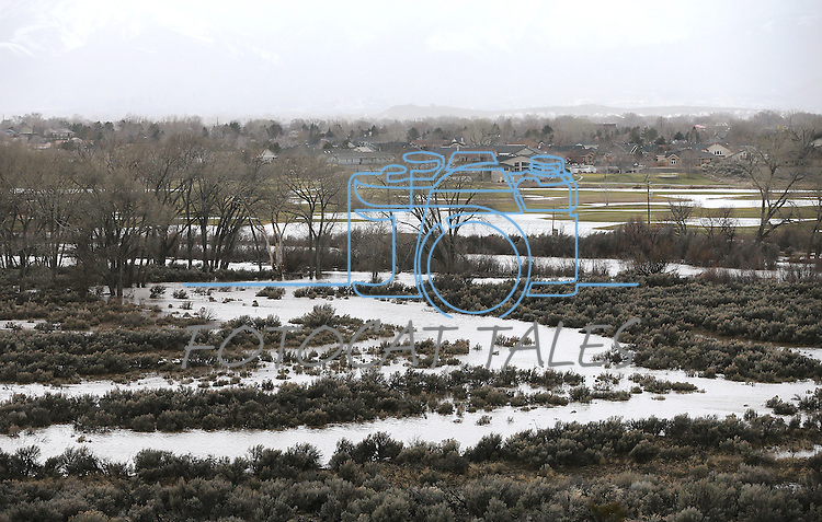 Flooding in East Carson City, Nev., as another winter storm rolls through the region on Thursday, Feb. 9, 2017.  <br /> Photo by Cathleen Allison/Nevada Photo Source