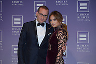 October 5, 2013  (Washington, DC)  Chad Griffin, president of the Human Rights Campaign, on the red carpet with Jennifer Lopez at the organization's 2013 national dinner.  (Photo by Don Baxter/Media Images International)