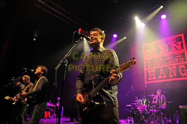 LONDON, ENGLAND - APRIL 15: Phillip Odgers and Stefan Cush of 'The Men They Couldn't Hang' performing at Shepherd's Bush Empire on April 15, 2017 in London, England.<br /> CAP/MAR<br /> &copy;MAR/Capital Pictures
