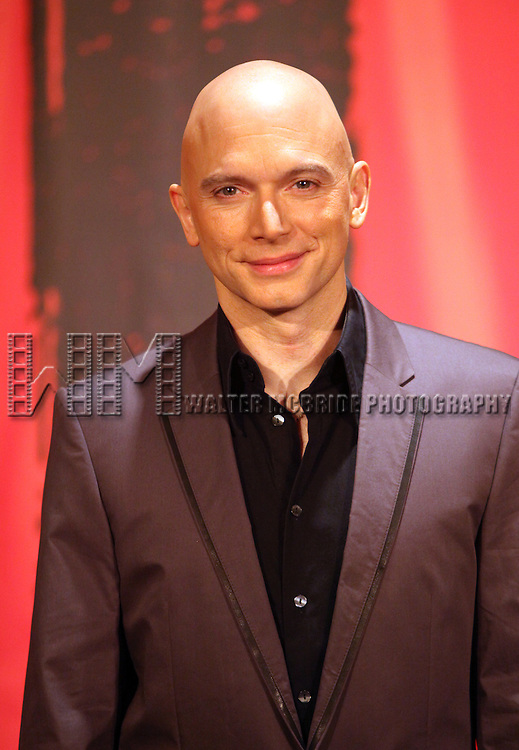 Michael Cerveris.during the Press Conference Photo Call for the Broadway Revival of 'Evita' at the Mariott Marquis Hotel on March 12, 2012 in New York City.
